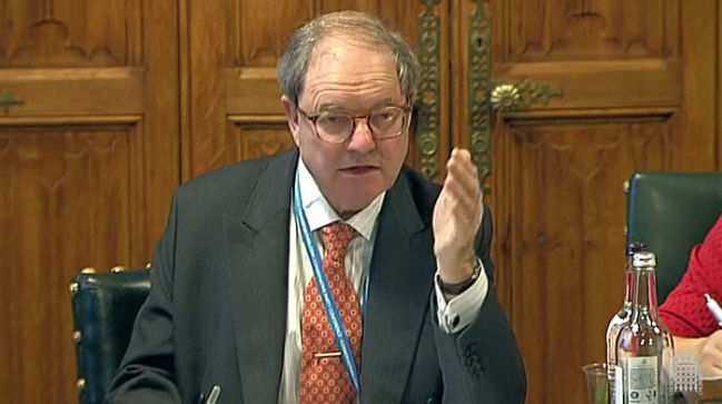 Sir Geoffrey Clifton Brown MP at the Public Accounts Committee